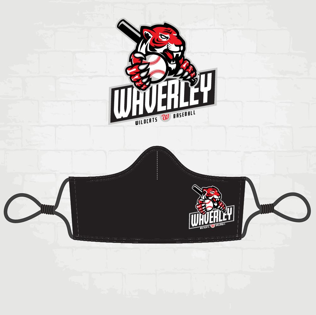 Black Face Mask - Wildcat Logo