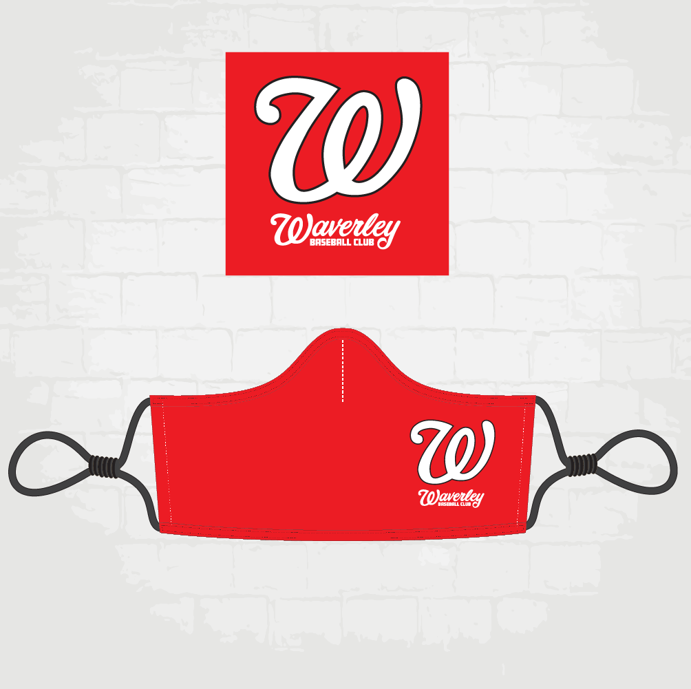 Red Face Mask - W Logo