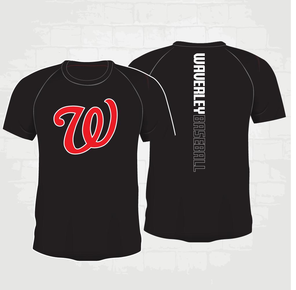 Black Casual T-Shirt - W logo