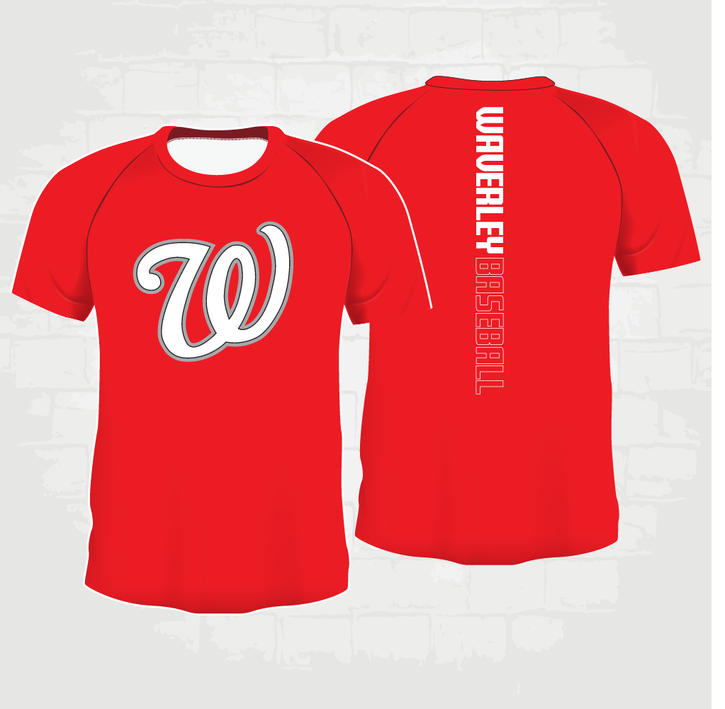 Red Casual T-Shirt - W logo