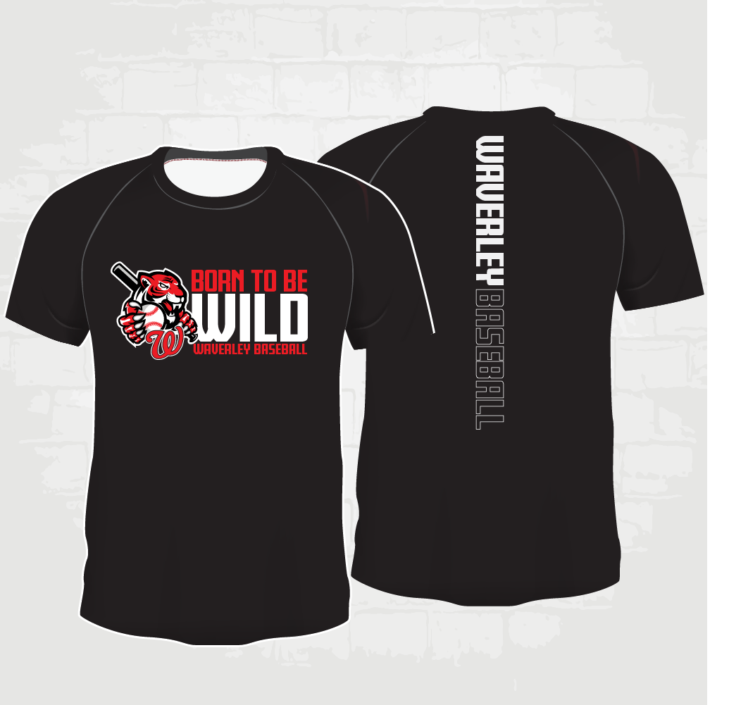Black Casual T-Shirt - Born to be Wild