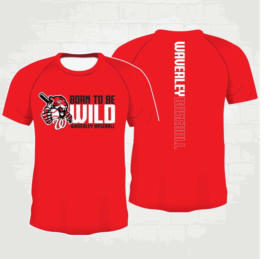 Red Casual T-Shirt - Born to be Wild