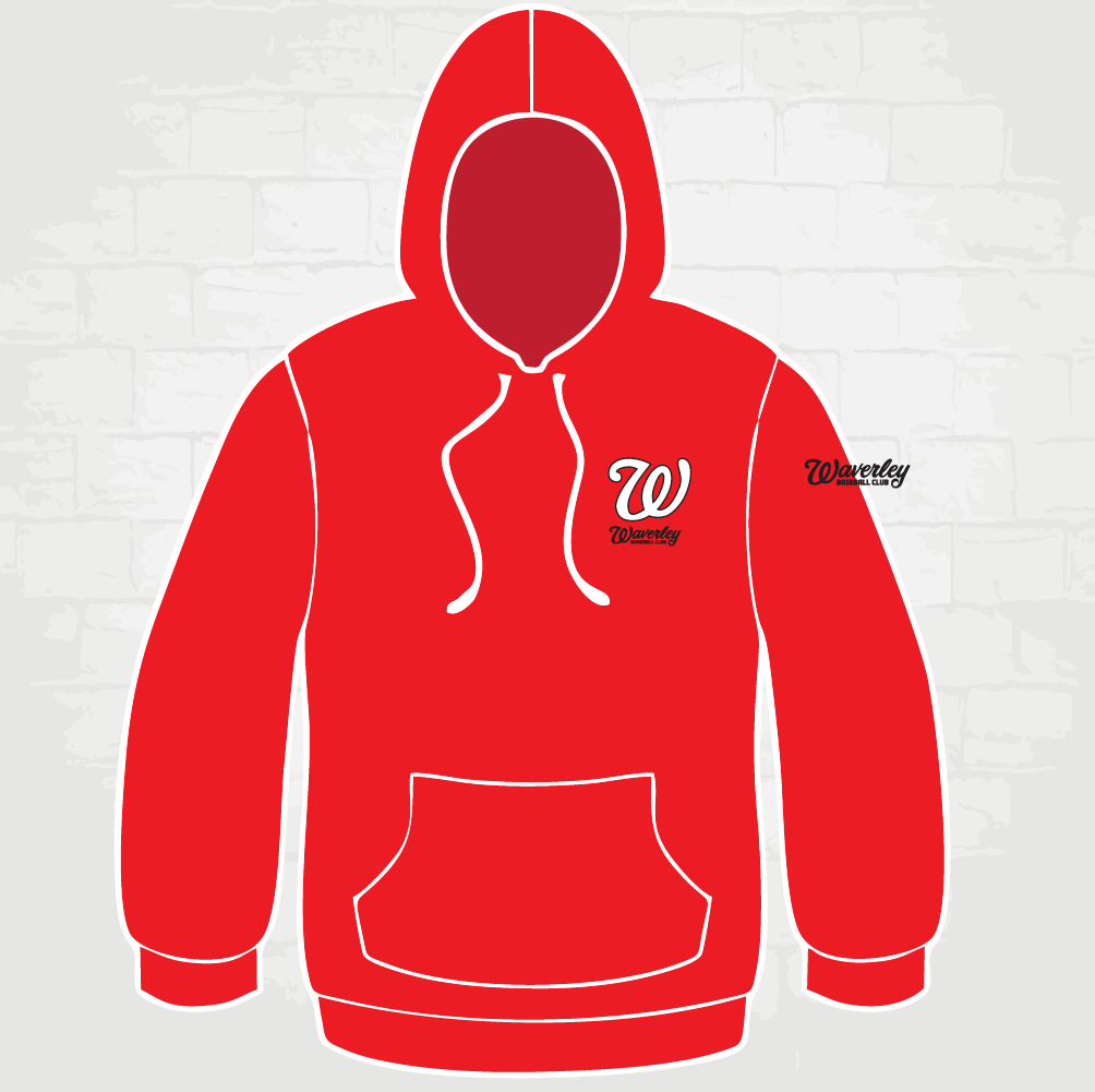 Red Hoody - W logo